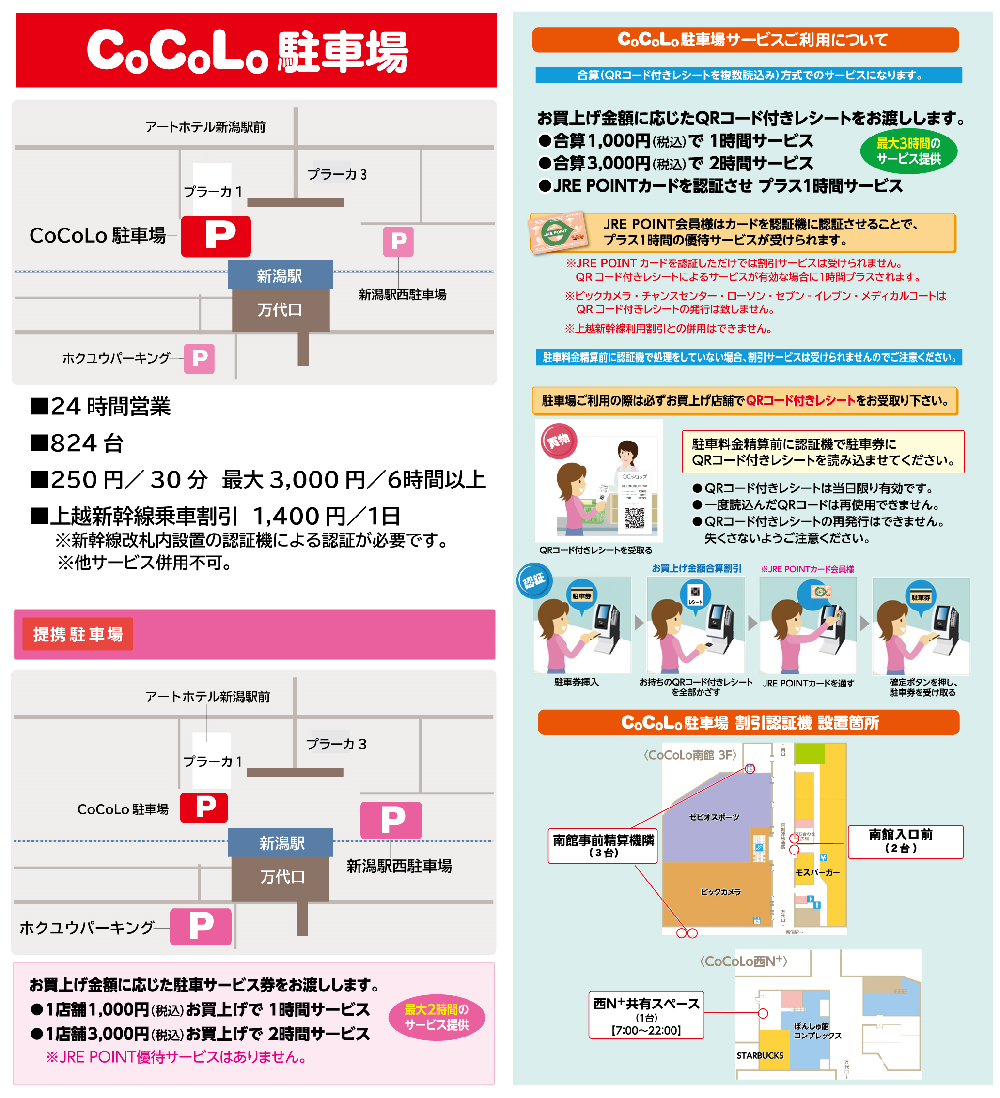 CoCoLo駐車場サービスのご案内